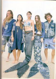 Kapital Surf Cowboys (denim fish tail diy)  Don't forget, tomorrow is National Lee Denim Day for Cancer - do your part, Merpeople!