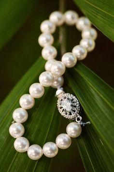 style me pretty - real wedding - fiji - fiji wedding - sheraton fiji resort - bride - getting ready - jewelry - bracelet