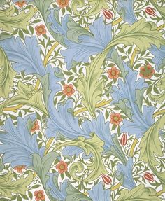 Granville Wallpaper by John Henry Dearle, from the V and A range by Museums & Galleries