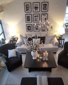 Charming Bohemian Home Interior Design Ideas Living Room Decor Cozy, Elegant Living Room, Living Room Grey, Formal Living Rooms, Home Living Room, Apartment Living, Living Room Designs, Kitchen Living, Simple Living