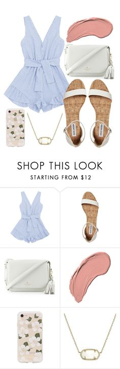 """""""Dinner date?"""" by jadenriley21 ❤ liked on Polyvore featuring Kate Spade, NYX, Sonix and Kendra Scott"""