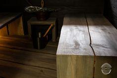 "Modern sauna project with darker benches. Benches have natural ""live edge"". This sauna is modern version of original Finnish smoke sauna. Modern Saunas, Finnish Sauna, Joinery, Solid Wood, Woodworking, Interior Design, The Originals, Benches, Projects"