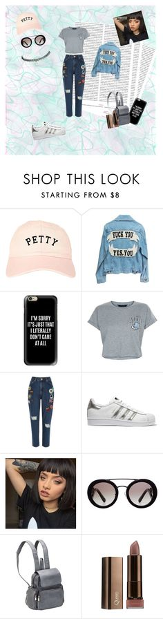"""""""P...lease"""" by queen-suga on Polyvore featuring Oris, Casetify, New Look, River Island, adidas Originals, Prada, Le Donne and Wet Seal"""