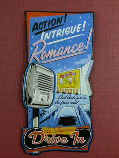 Nostalgic  Vintage  Reproduced  Metal Sign  Drive by FriedasStuff,