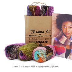 Heart Scarf - Knit Kit - C