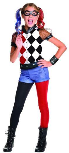 Costume Kids DC Superhero Girls Deluxe Harley Quinn Costume Small #Rubies
