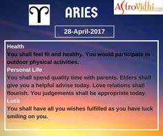 Read Your Free Aries Daily Horoscope (28-April-2017). Read detailed horoscope at astrovidhi.com. Sagittarius Daily Horoscope, Free Daily Horoscopes, Aquarius Daily, Leo Zodiac, Scorpio, Sailing Day, Feeling Fatigued, Meeting Someone New, Scorpion