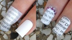 Newspaper nail art designs are pretty and unique. But are they hard to DIY? Not at all! This tutorial will show you just how easy it is!