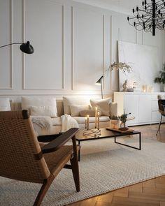 Living Room Goals, Living Spaces, Living Rooms, Furniture Legs, Modern Furniture, Parisian Room, Vintage Apartment, Interior Decorating, Interior Design