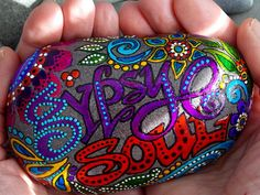my dear friend  Sandi paints these with all her heart..xx Gypsy Soul Sea Stone -Sandi Pike Foundas   via Etsy.