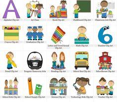 Technology, Learning, and Innovation for the Classroom Math Clipart, School Clipart, Art Classroom Jobs, Graduation Clip Art, Classe D'art, Book Clip Art, Illustrations, Homeschool, Kids Rugs