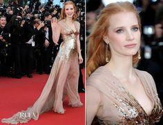 Jessica Chastain In Gucci Première – 'Lawless' Cannes Film Festival Premiere