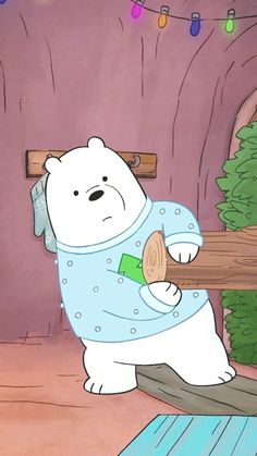 We bara bear Cute Panda Wallpaper, Cartoon Wallpaper Iphone, Bear Wallpaper, Cute Disney Wallpaper, Cute Wallpaper Backgrounds, We Bare Bears Wallpapers, Panda Wallpapers, Cute Wallpapers, Ice Bear We Bare Bears