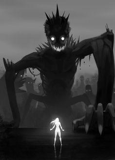Dark Fantasy is the Best Fantasy Arte Horror, Horror Art, Dark Fantasy, Fantasy Art, Art Manga, Anime Art, Fantasy Creatures, Mythical Creatures, Dark Creatures
