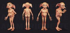 "Vercion I did a couple of years ago of ""Dobby, the house elf"" Dobby Harry Potter, Cumpleaños Harry Potter, Toy Art, Magical Creatures, Fantasy Creatures, Elves Fantasy, Fantasy Dolls, Forest People, Elves And Fairies"