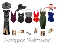 """Avengers Swimwear"" by liv4marvel94 ❤ liked on Polyvore featuring Eres, Speedo, Topshop, Proenza Schouler, Melissa Odabash, Salsa, Wet Seal, Charlotte Russe, Aéropostale and K. Jacques"