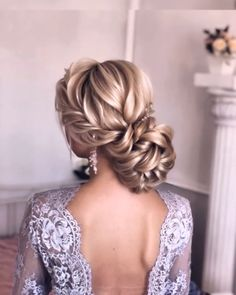 50 Chic and Elegant Wedding Hairstyles Ideas for Bridal 2019 Page 3 of 5 Sofly. - - 50 Chic and Elegant Wedding Hairstyles Ideas for Bridal 2019 Page 3 of 5 Soflyme Evening Hairstyles, Homecoming Hairstyles, Bride Hairstyles, Elegant Hairstyles, Hairstyle Ideas, Long Updo Hairstyles, Easy Hairstyle, Retro Wedding Hair, Wavy Wedding Hair