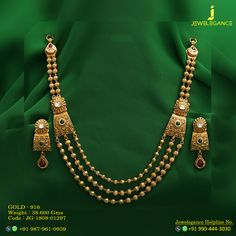 Gold 916 Premium Design Get in touch with us on Gold Bangles Design, Gold Jewellery Design, Pendant Jewelry, Beaded Jewelry, Pearl Necklace Designs, Antique Necklace, Gold Jewelry Simple, Jewelry Model, Making Ideas