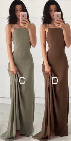 Sexy Long Brown Prom Dress/Evening Dress with Open Back
