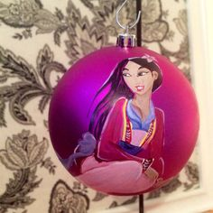 Mulan inspired hand-painted 4inch shatterproof by Santabaybee