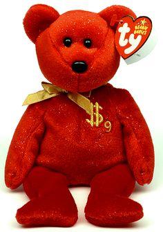Billionaire 9 - bear - Ty Beanie Babies