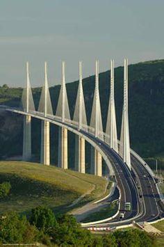 Millau Viaduct between Paris and Montpellier - Beautiful.