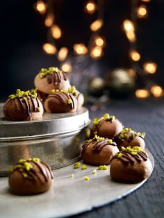 nougat balls - Simple biscuits decorated with a nougat core and chocolate - Italian Christmas Cookie Recipes, Italian Cookie Recipes, Best Cookie Recipes, Candy Recipes, Christmas Baking, Cookie Desserts, Holiday Desserts, Holiday Recipes, Christmas Recipes