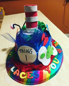 Dr Seuss hat for CRAZY HAT DAY  ALL MADE WITH FOAM