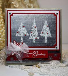 Christmas Card Handmade  Greeting Card  Seasons by CardInspired