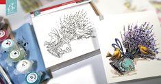 Les cartes à peindre sont idéales pour une activité sans préparation. Des crayons de bois, de cire ou des pastels, de la peinture à l'eau ou acrylique, vous prenez simplement ce que vous avez à la maison et vous réalisez les plus belles cartes à offrir tout au long de l'année ! Crayons, Pastels, Water Paint Art, China Painting, Surfboard Wax, Products, Everything, Home, Colouring Pencils