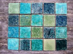 Handmade ceramic tile splash by damsontreepottery sold on etsy