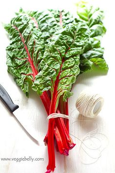 Swiss Chard. Rich in vitamin C, K & calcium. Substitute for lettuce in salads, tacos and sandwiches (more flavor!). Add to stir-fries.