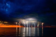 Storm and Sunset - Storm and Sunset, South Australia. Photography by Andrey Moisseyev
