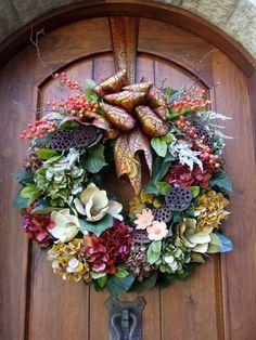 Fall Wreath ~  by Leanne Michael LUXE lifestyle design  www.leannemichael.com