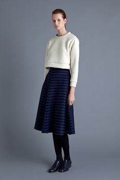 Tita Top, Blu Skirt and Lace Up Shoe | Samuji FW15 Seasonal Collection