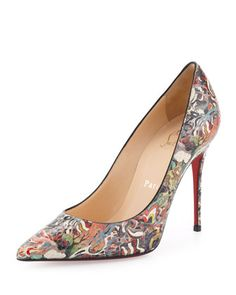 christian louboutin felted mary jane flats