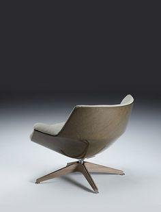 jean-marie massaud lounge chair in linen composite, for saintluc