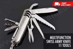 Pisau lipat berbagai macam multifungsi Swiss Knife 11 Multifunction Tools hanya Rp 24.999 http://www.groupbeli.com/view.php?id=865
