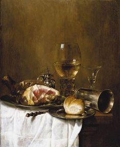 cloth    Still-Life 1 by Willem Claesz Heda, 1651