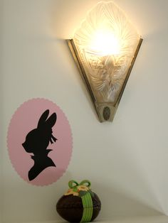Silhouette Bunny could be cute Easter card