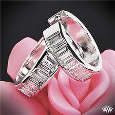 'Channel-Set Baguette' Diamond Hoop Earrings #Whiteflash #Verragio