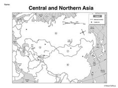 map activity central and northern asia in this activity students must locate and