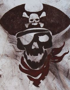 Custom Hand-painted Pirate Skull T-shirt, Casual Mens Tshirt for Halloween, Handmade Jolly Roger Shirt, Personalized Tee, Gifts for Him - - Gifts For Girls, Gifts For Friends, Gifts For Him, Pirate Hats, Pirate Skull, Burgundy Paint, H&m Brand, Personalized Gifts For Men, Skull Shirts