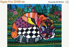 50 % de réduction Storewide-chat Art Poster impression de peinture par Heather Galler (HG261)