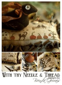 Brenda Gervais has beautiful patterns for cross stitch and more.