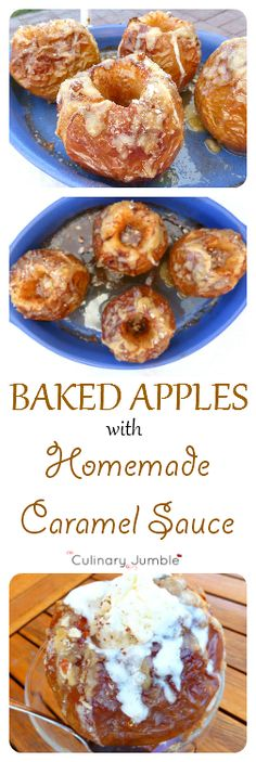 Baked apple with homemade caramel sauce - a fantastic trip down memory lane with this delicious but simple dessert!