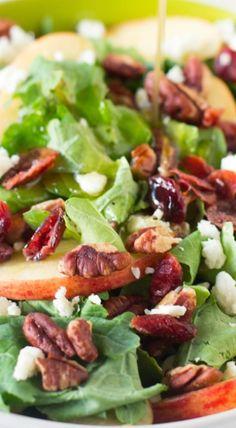 Apple Pecan and Feta Salad with Honey Apple Dressing