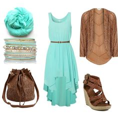 """Mint and Cognac"" by heike-muller on Polyvore"