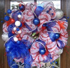 4th of July mesh holiday wreath