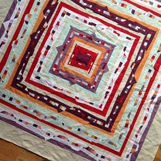 sew katie did| I ripped off the border. It's better without the negative space quilting nightmare.